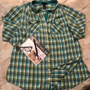 Mad for Plaid shirt Lane Bryant  sz 14/16 $20